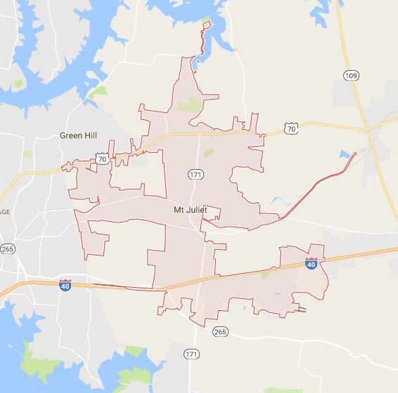 Mount Juliet Map