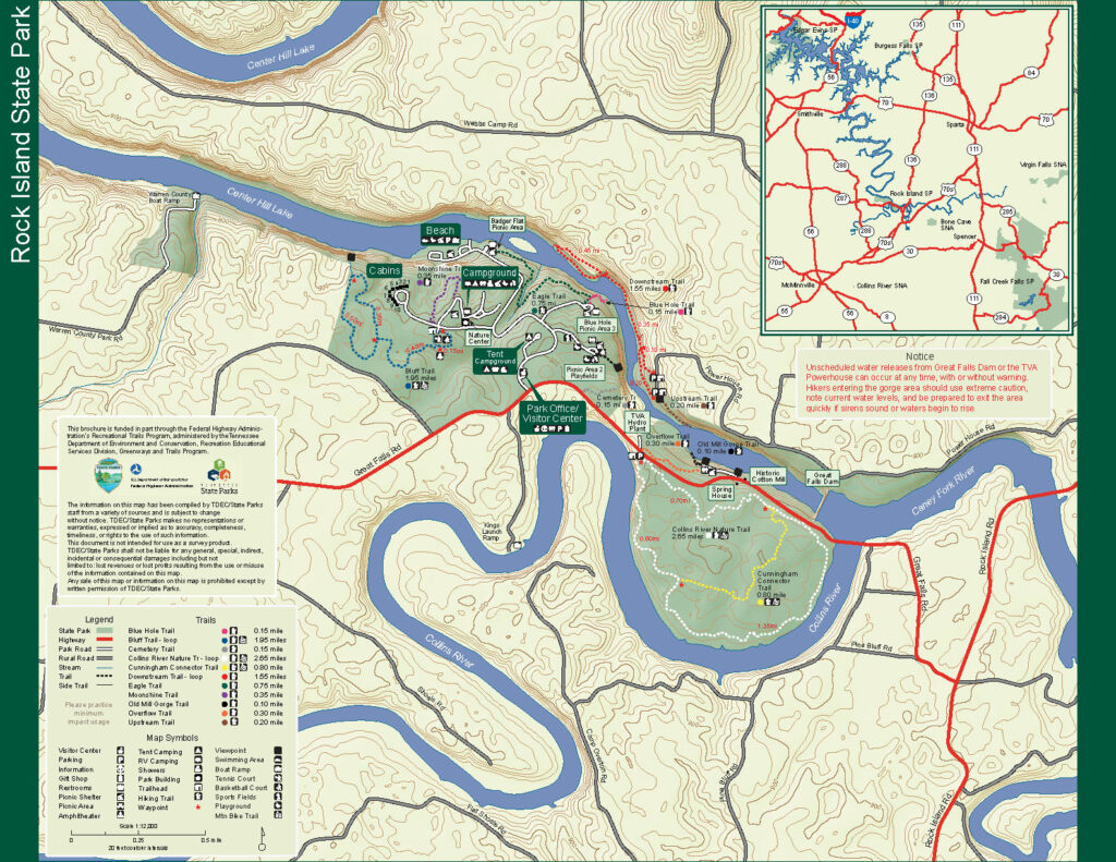 Map of Rock Island State Park